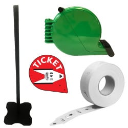 Kit distributeur de tickets escargot - 2000 tickets
