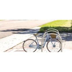 Arceau vélo inox en U