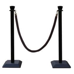 Kit 2 poteaux à corde PVC avec cordon tréssé