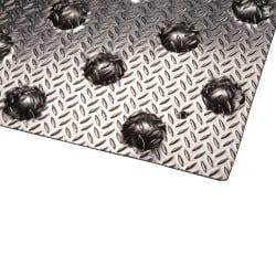 Bande podotactile aluminium à visser - lot de 2