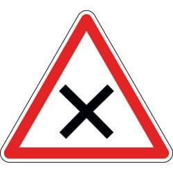 Panneau intersection à priorité à droite - AB1