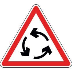 Panneau carrefour à sens giratoire - AB25