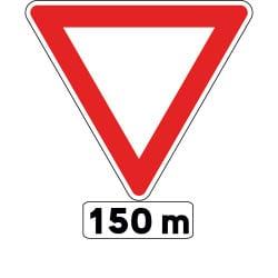 Panneau cédez le passage - AB3b