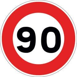 Panneau limitation de vitesse - B14 - Personnalisable