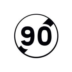 Panneau fin de limitation de vitesse - B33 - Personnalisable