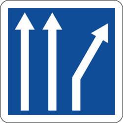 Panneau voies affectées - C24b - Personnalisable