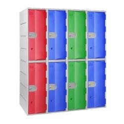 Vestiaire intérieur et extérieur, 2 casiers par colonne