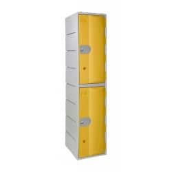 Vestiaire plastique alimentaire, 2 casiers par colonne