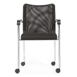 Chaise empilable PHIL avec ou sans roulettes