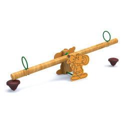 Balancier en bois à bascule Yedra - 2 places
