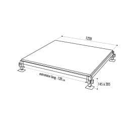 Plancher de bal et mini estrade démontable et modulable