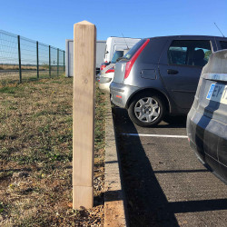 Borne de parking flexible en bois