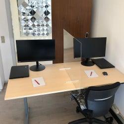 Séparateur de bureau en plexiglas