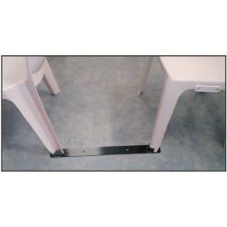 Chaise Denver en résine de synthèse monobloc, empilable, classement feu M2