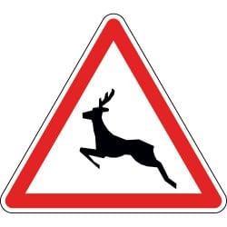 Panneau passage d'animaux sauvages - A15b