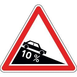 Panneau descente dangereuse - A16 - Personnalisable