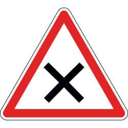 Panneau intersection priorité à droite - AB1