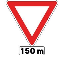 Panneau cédez le passage - signal avancé - AB3b