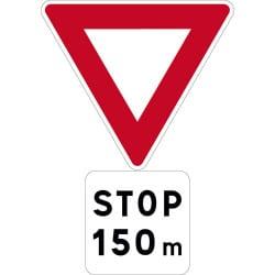 Panneau stop - signal avancé - AB5