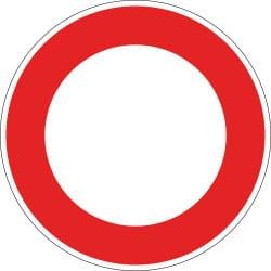 Panneau circulation interdite à tout véhicule dans les 2 sens - B0