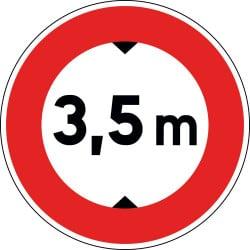 Panneau B11 - Accès interdit aux véhicules d'une largeur supérieur à