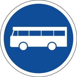 Panneau voie réservée aux véhicules des services réguliers de transport en commun - B27a
