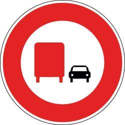 Panneau interdiction de dépasser au plus de 3.5 tonnes - B3A
