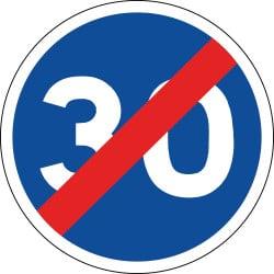 Panneau fin de vitesse minimale obligatoire - B43 - Personnalisable