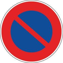 Panneau stationnement interdit - B6a1