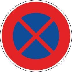 Panneau arrêt et stationnement interdit - B6d