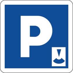 Panneau C1b - Lieu aménagé pour le stationnement gratuit