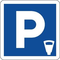 Panneau lieu aménagé pour le stationnement payant - C1c