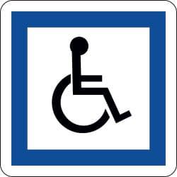 Panneau installations accessibles aux personnes handicapées à mobilité réduite - CE14