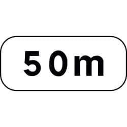 Panonceau de distance indiquant la longueur - M1 - Personnalisable
