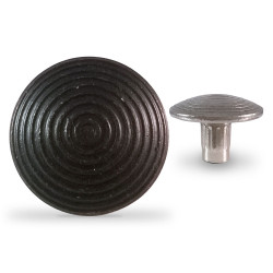 Clou podotactile en acier zingué noir - Antico