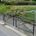 Barrière de ville Mérignac grillagée en acier