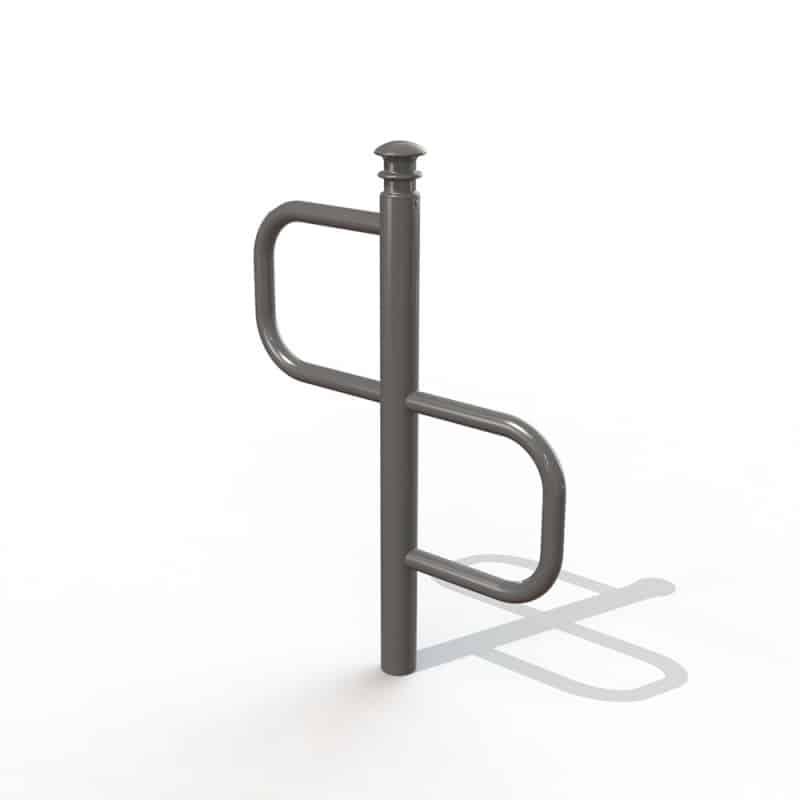 Support velo deco 2 places tête élégance - Mobilier urbain