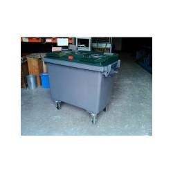 Conteneur verre 660L 4 roues - Conteneur poubelle