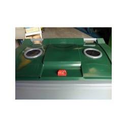 Conteneur verre 660L 4 roues