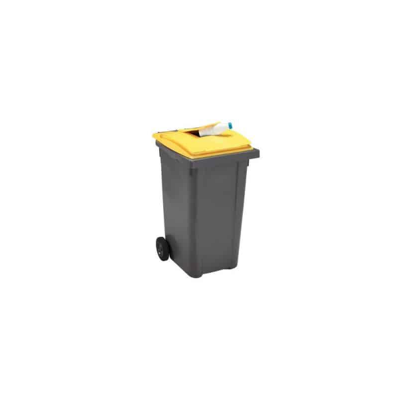 Poubelle emballages 140L 2 roues - Conteneur poubelle
