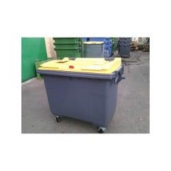 Conteneur emballages 770L 4 roues - Conteneur poubelle
