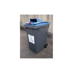 Poubelle papier 120L 2 roues - Conteneur poubelle