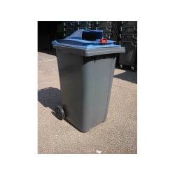 Poubelle papier 340L 2 roues - Conteneur poubelle