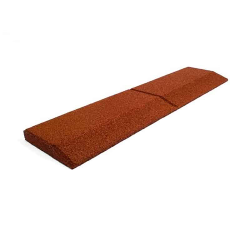 Bordure biaisée rouge pour sol amortissant aire de jeux