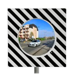Miroir de circulation routière Inox Poly ø 600 mm