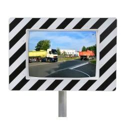 Miroir de circulation routière 90° Inox Poly