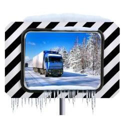 Miroir de circulation routière antigivre Inox Poly 400 x 600 mm et 600 x 800 mm