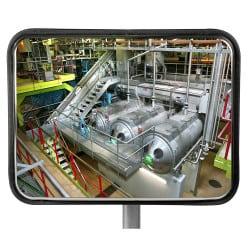 Miroir multi-usages intérieur & extérieur Inox Poli