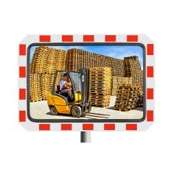 Miroir de contrôle de la circulation - Industrie & voie privée 90° Inox Poli