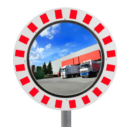 Miroir de circulation - Industrie & voie privée 90° Inox Poli
